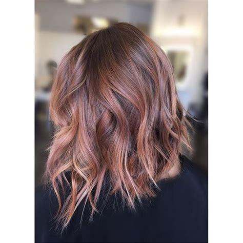 sparkling brilliant rose gold hair color ideas