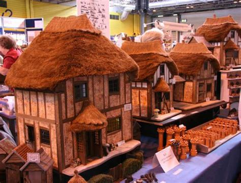 thatched roofs  scale model buildings  dollhouses
