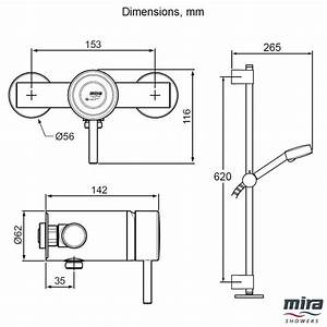 Mira Element Slt Thermostatic Ev Sequential Mixer Shower