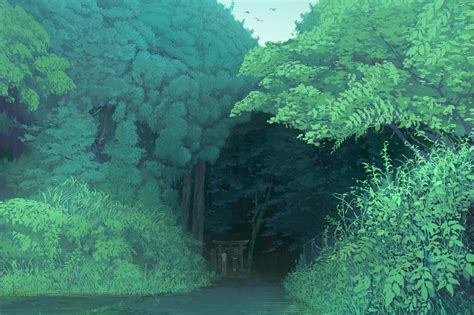 Forest Anime Wallpaper - anime nature wallpaper 77 images