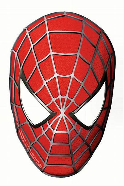 Spiderman Face Template Clipart Mask Printable Masks