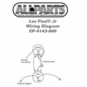 ep 4143 000 wiring kit for gibsonr les paulr sgr jr allparts With les paul jr wiring