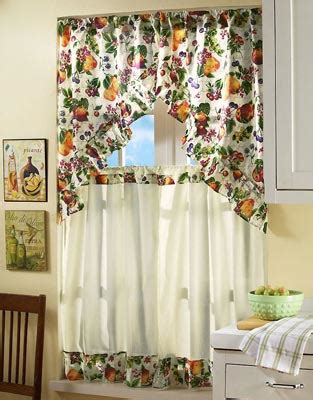 kitchen curtains fruit design choose the ideal curtains for your kitchen indoor lighting 4366