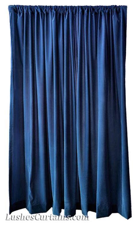 120 quot h navy blue velvet curtain panel drapery church