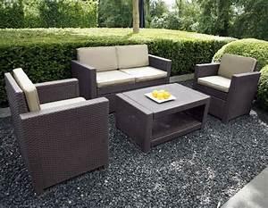 Mobilier De Jardin Tresse Resine Table Chaise Jardin