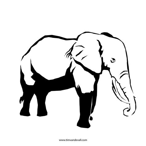 elephant stencil trunk up elephant outline printable search results calendar 2015