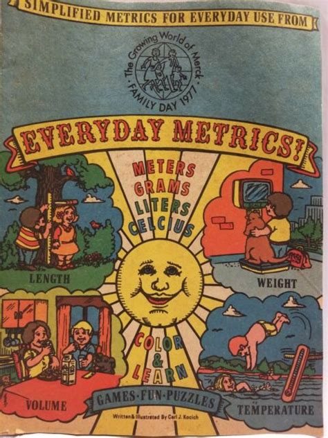vintage  everyday metrics educational childrens booklet coloring puzzle ebay