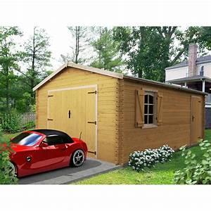 Garage Pour Voiture : garage bois savigny 2 voitures m leroy merlin ~ Voncanada.com Idées de Décoration