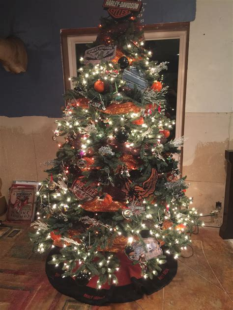 harley davidson christmas trees  memory   late