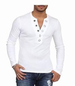 Tee Shirt Homme Manches Longues : t shirt manche longue homme blanc 3013 ~ Melissatoandfro.com Idées de Décoration