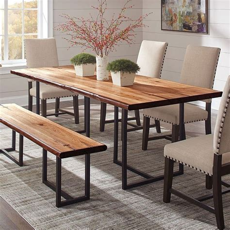 suthers  edge dining table  coaster furniture