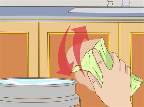 What To Use To Clean Cabinets by 3 Ways To Clean Greasy Kitchen Cabinets Wikihow