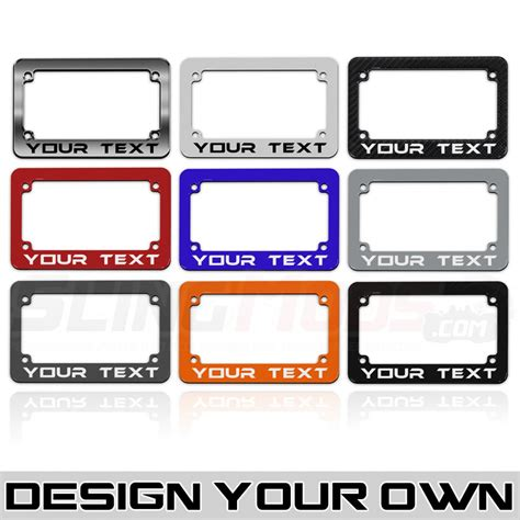 designer license plates motorcycle license plate frame designer with customizable