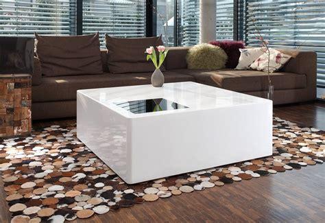 Salesfever Couchtisch Bloq Hochglanz Weiß 100x100cm Online