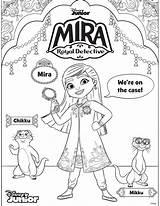 Mira Coloring Detective Royal Detetive Disney Sheets Mikku Colorir Sheet Chikku Spyglass Enjoy Three Arteira Lu sketch template