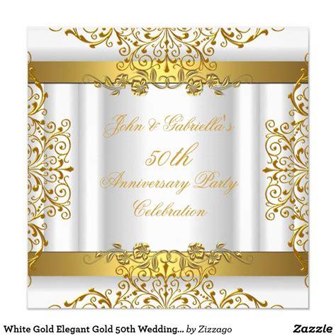 White Gold Elegant Gold 50th Wedding Anniversary