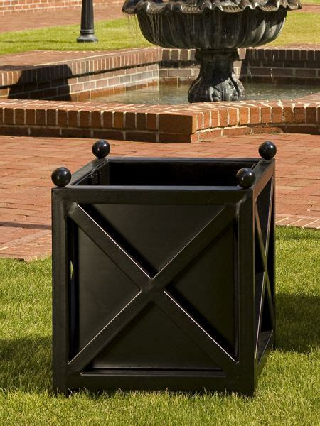 Black Square Planter Box by Planter Black Entry Diy Planter Box Planters