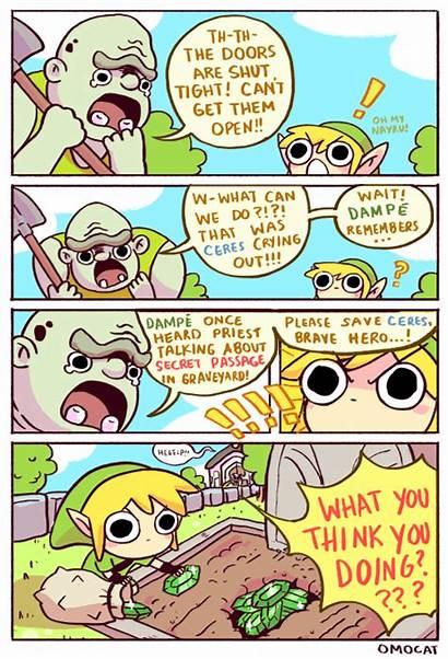 Zelda Legend Comics Omocat Funny Loz Priorities