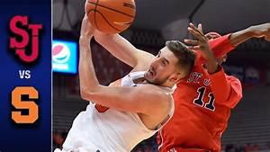 Syracuse vs. St. John's Men's Basketball Highlights (2016 ...