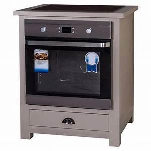 Meuble Bas Four Plaque : meuble four et plaque de cuisson en pin massif ~ Teatrodelosmanantiales.com Idées de Décoration