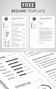 15 free elegant modern cv resume templates psd for Free resume layout templates