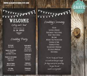 wedding program wording string lights wedding ceremony cards wedding by