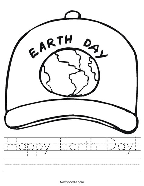 happy earth day worksheet twisty noodle 307 | happy earth day worksheet