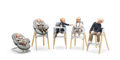 chaise steps stokke stokke steps three in one bouncer high chair our must