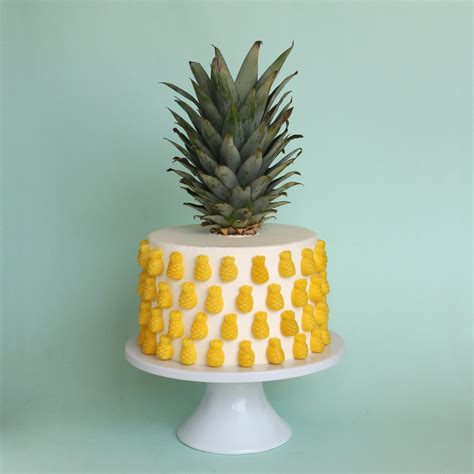 pineapple layer cake decorated  sugarfina candy
