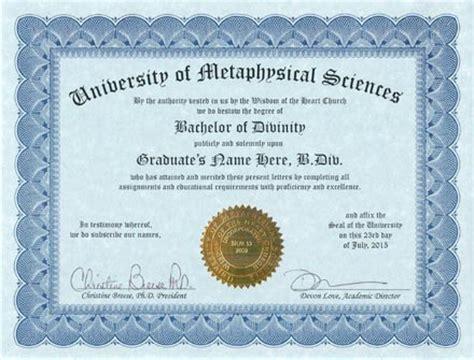 Bachelors Program by Metaphysics Degree Metaphysical Education Metaphysical
