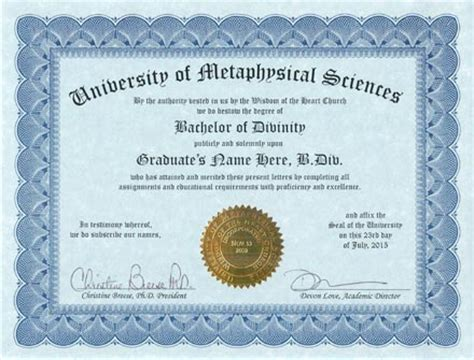 metaphysics degree metaphysical education metaphysical