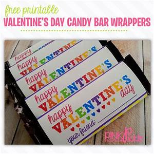 21 best free printables from pink pickle studios images on With valentine candy bar wrapper templates