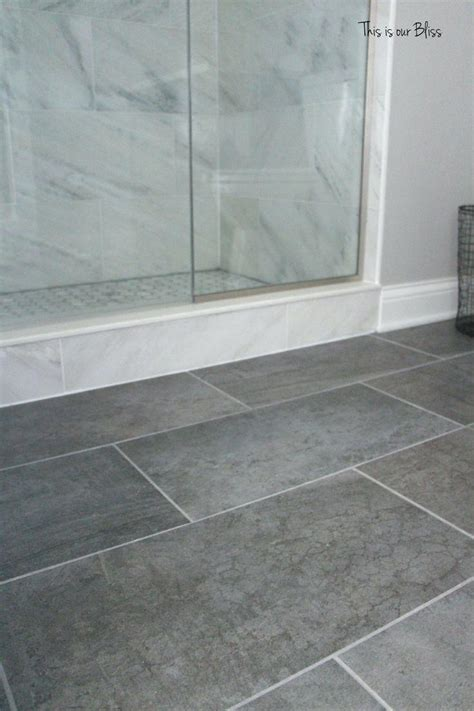 gray bathroom floor tile tile gray floor color idea like the whtie tiles in shower