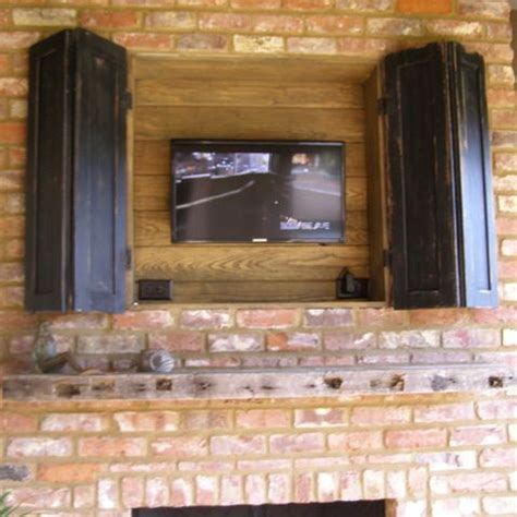 outdoor fireplace tv design ideas pictures remodel