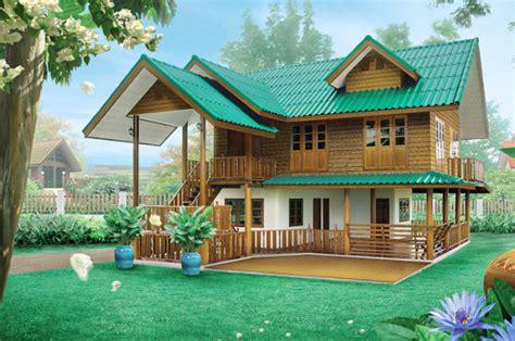 แบบบ้านไทยประยุกต์สองชั้น สวยเหมือนไม้สักจริง | รีวิวคอนโด ...