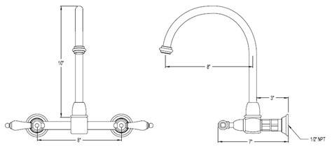 kitchen sink faucet size kitchen sink faucet dimensions 8481