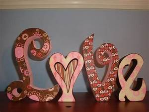 valentine decor love wood letters be my valentine With love decor letters