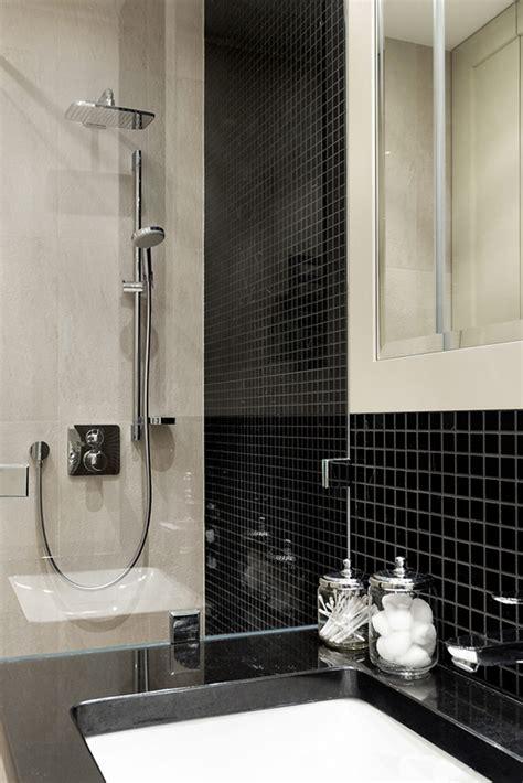 salle de bain noir et or appartement 224 la d 233 coration f 233 minine et 233 pur 233 e