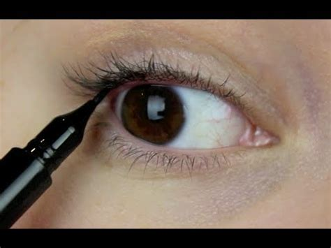 How To Tightline Your Eyes  Eyeliner Techniques Youtube