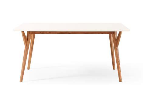 table 224 manger design vintage blanche et bois limmat dewarens