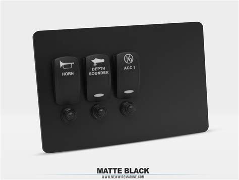 material options custom switch panels new wire marine
