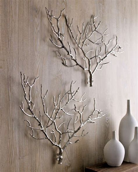 In brief, if you're customizing your home, perfect concept is in the details. Tree Branch Twig Iron Wall Sculpture Art Decor Modern Global Views Style Silver # ...