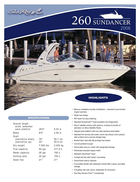 Boat Detailing Flyers by 2006 Sea 260 Sundancer Boat Is Sold The