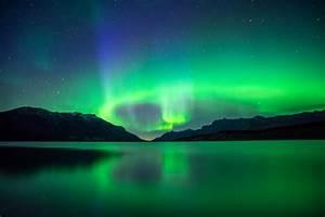 landscape, Nebula, Reflection, Mountains, Night, Lake ...