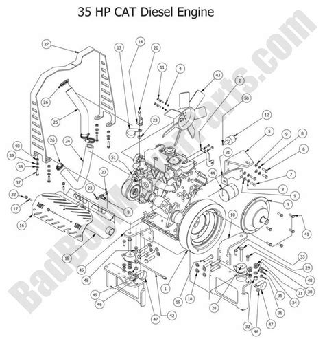 C 15 Cat Engine Cooling Diagram by Bad Boy Parts Lookup 2014 Diesels 35hp Cat Diesel Engine