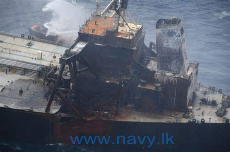Sri Lanka: Fire-Hit Tanker Towed Further Offshore As