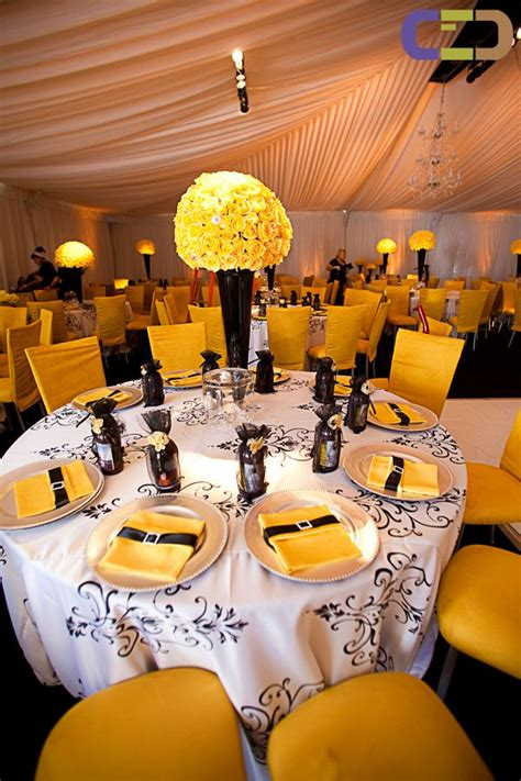 284 best black yellow weddings reception images on weddings yellow and flower