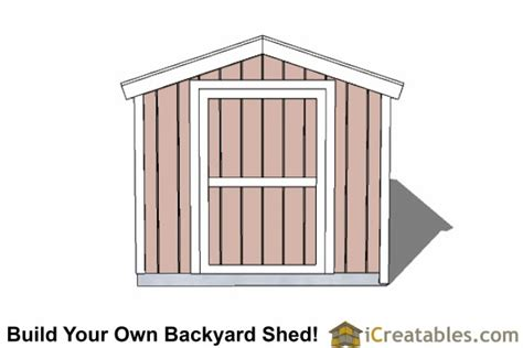 8x16 gable shed with 8 foot wall shed plans