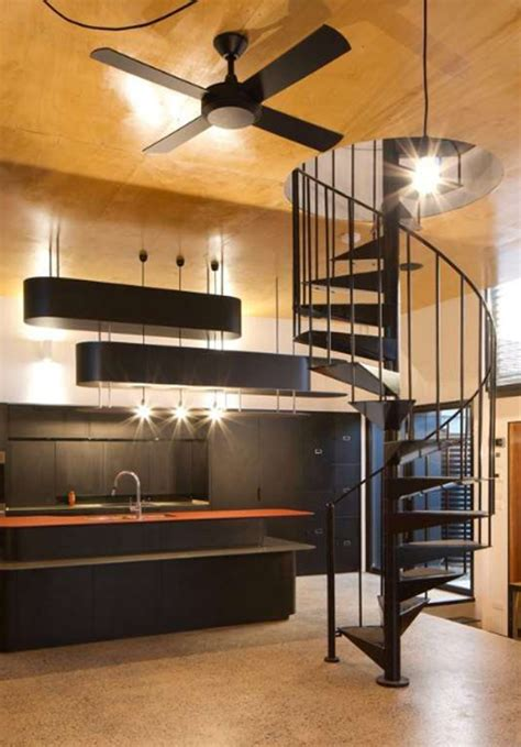 Design For Small Homes green small house with staircase design