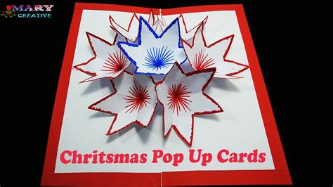 Christmas Pop Up Cards - Flower pop up card (Time Lapse